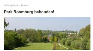 Profburgwijk 20150320 Park Roomburg behouden!