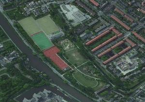 Roomburgerpark luchtfoto