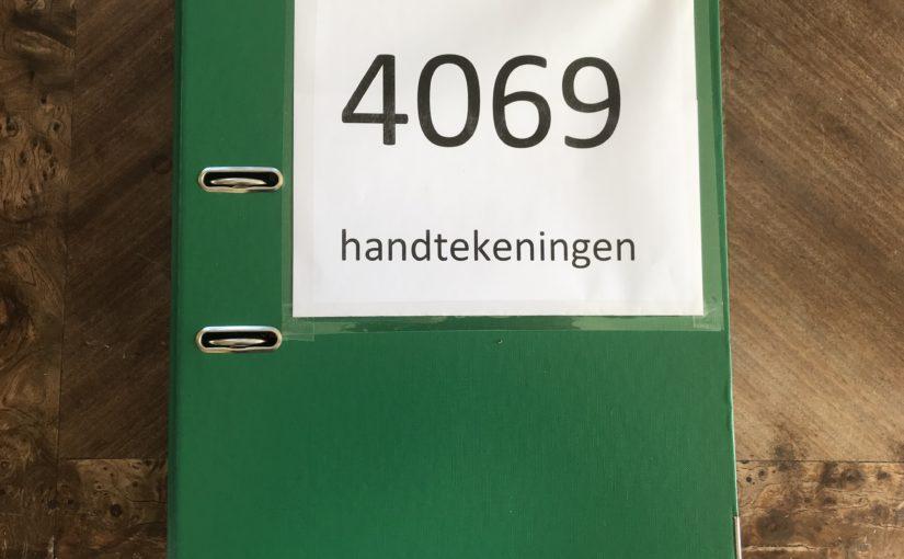 PERSBERICHT: 4.069 handtekeningen voor behoud van groen in de wijk