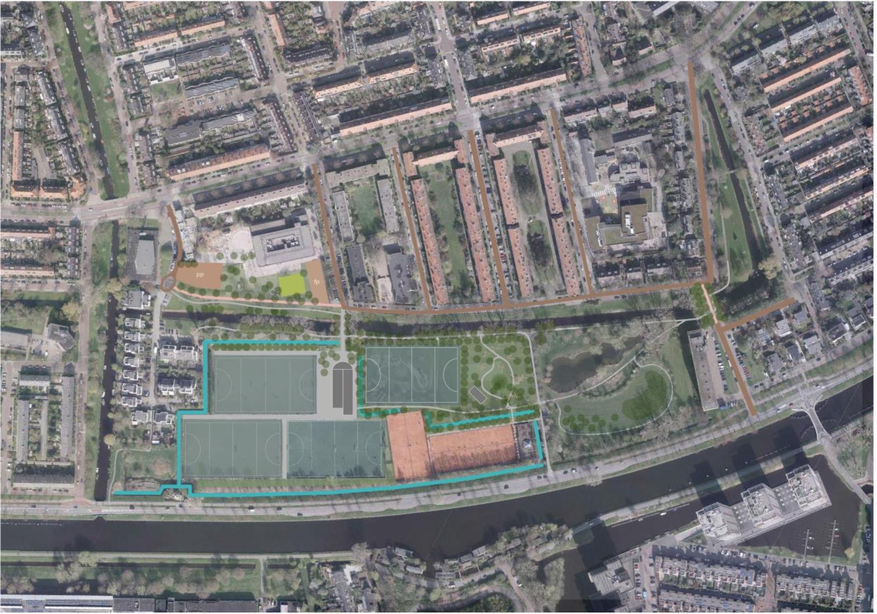 Inrichtingsplan Wijksportpark Roomburgerpark met reactie van de Stichting